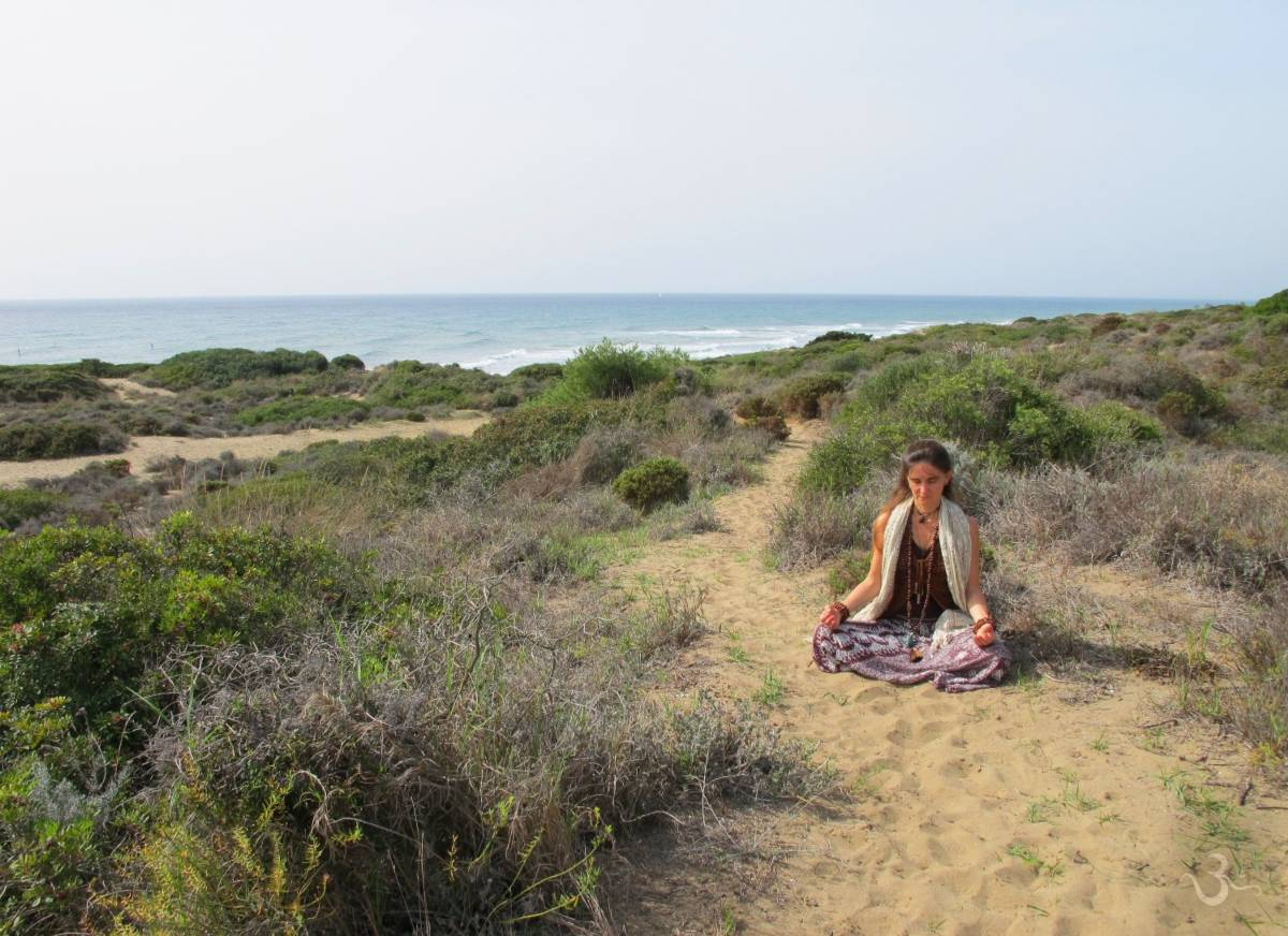 meditation at Artola dunes of Marbella