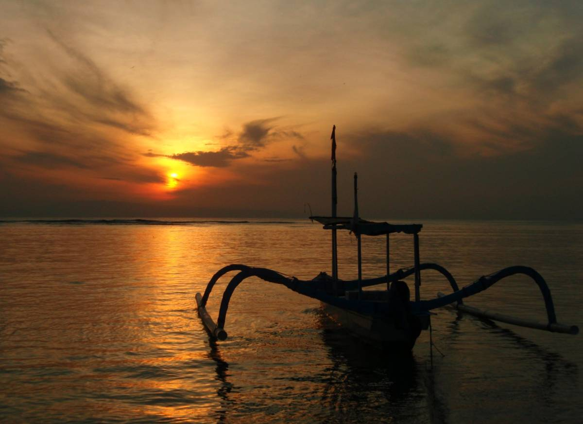sunrise in Sanur