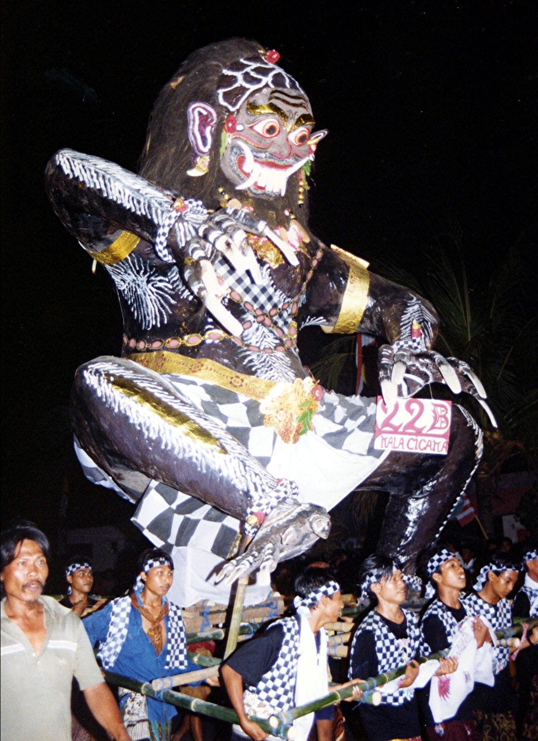 Ngerupuk ceremony at the end of the Saka year (every Banyar has his own Ogoh-Ogoh - demon)