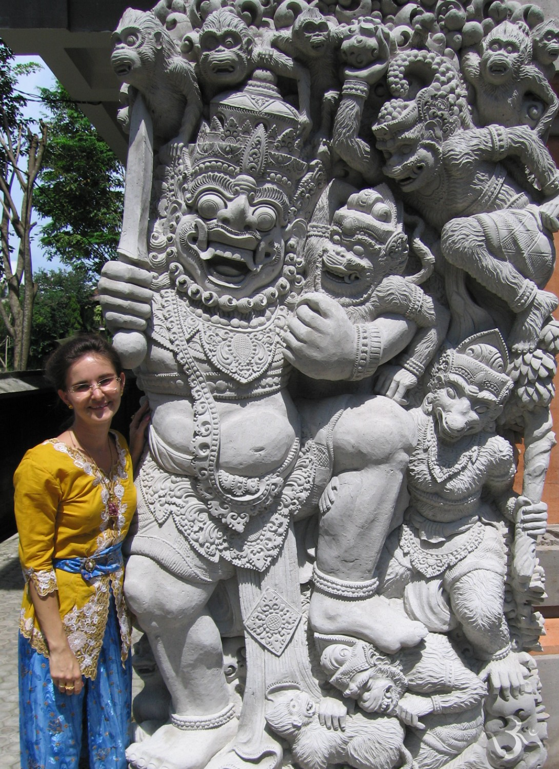 Rawana (battle of Lanka) at Balai Banjar Ubud Kelod